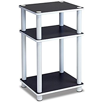 horleora Table d'Appoint Design Table Basse Table café Ronde - 3 plateaux - 4 pieds(Noir)