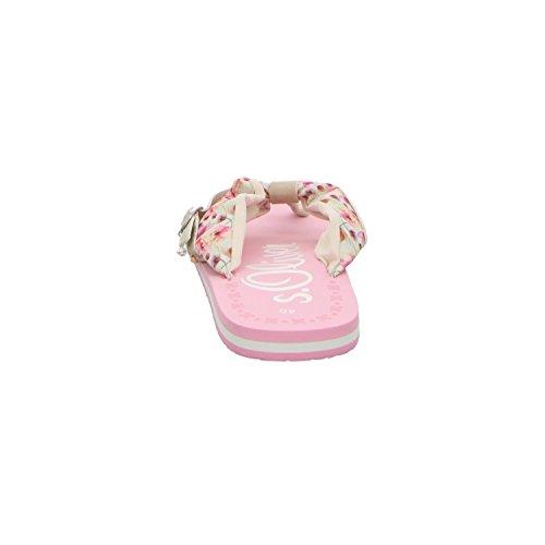 s.Oliver 5-27110-36/537 Damen Pantolette bis 30mm Absatz 537LT PINK FLOWER