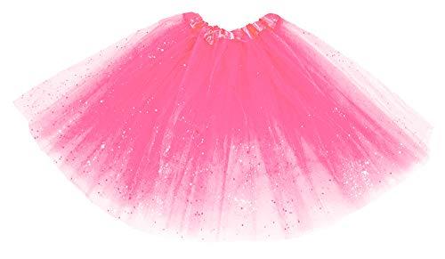 Kostüm Clown Punk Rock - Das Kostümland Glitzer Petticoat 40 cm - Pink
