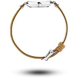 Mock Rock MO1404Wera Petite Silver & Brown Leather Women's Watch
