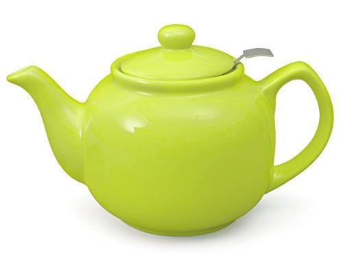 Teekanne Malika grün 1,2 Liter aus hitzebeständiger Keramik mit Siebeinsatz aus Edelstahl