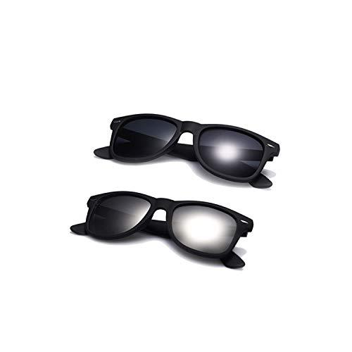 Sport-Sonnenbrillen, Vintage Sonnenbrillen, Fashion Sunglasses Men Polarized Sunglasses Men Driving Mirrors Coating Points Black Frame Eyewear Male Sun Glasses UV400 C5-C3