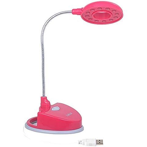 Daffodil LEC150 - LED Luce da lettura - Lampada da tavolo con braccio flessibile - Rossa
