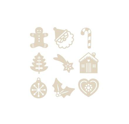 Mini Silhouetten aus Holz 'Artemio' Weihnachten