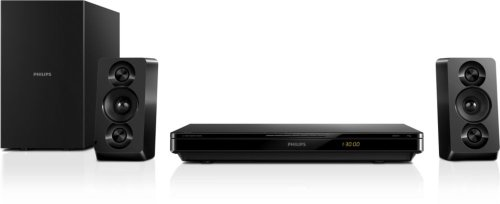 Philips HTB3270/12 2.1 Home Entertainment-System (Full HD 3D Blu-ray, Dolby TrueHD, SimplyShare, EasyLink, 500 W) schwarz