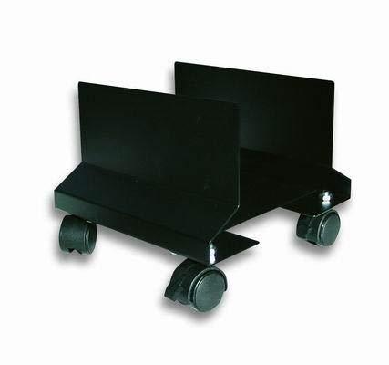 Techly 303294 supporto per cpu in acciaio con ruote nero nero