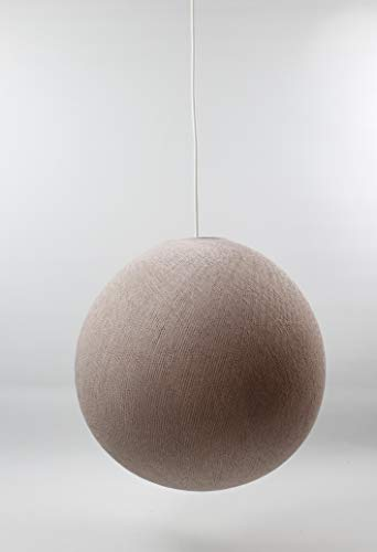 Cotton Ball Lights Lampe suspension 36 cm, coton, rose pâle