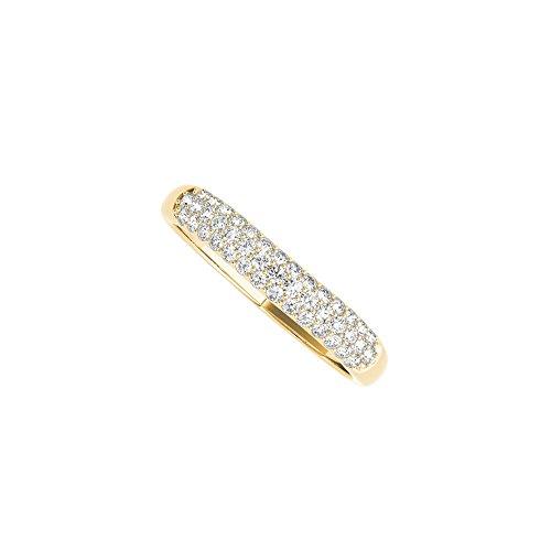 Diamond Wedding Band in 14K Yellow Gold Wedding Rings (Pave Diamond Wedding Ring)
