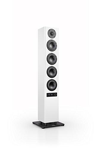 Nubert nuPro A-500 Standlautsprecher | Lautsprecher für Stereo & Musikgenuss | Heimkino & HiFi Qualität auf hohem Niveau | aktive Standbox mit 3 Wege Technik | Kompakte Standbox Weiß | 1 Stück