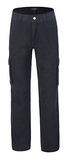Krumba Herren Baumwolle Draussen Beiläufig Ladung Hosen schwarz Größe 30