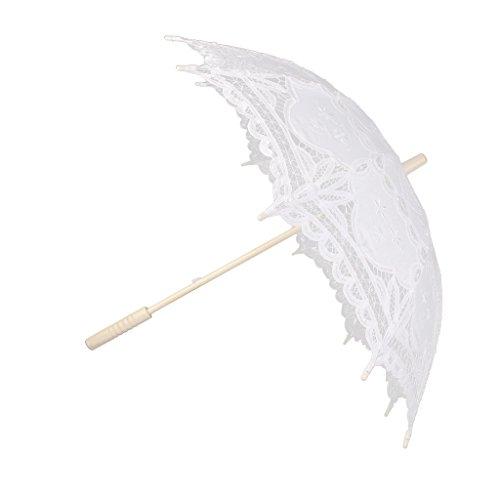 Sombrillas De Encaje De Algodš®n Hechos A Mano Paraguas Partido De La Boda De Novia Blanco Vestido De Fiesta