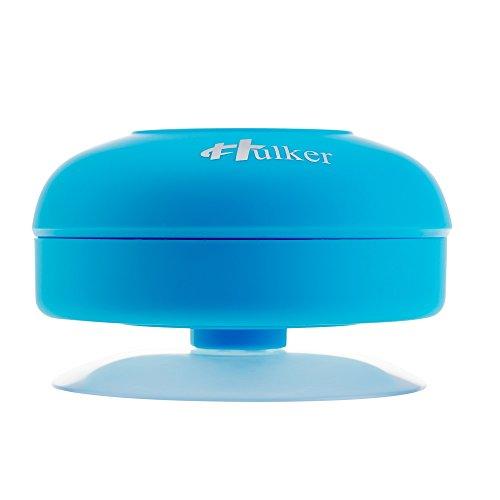 HULKER 001 Bluetooth Speaker Bluetooth Shower Speaker Hands Free speakerphone Mini Portable Speaker Waterproof Rechargeable with Sucker (BLUE)