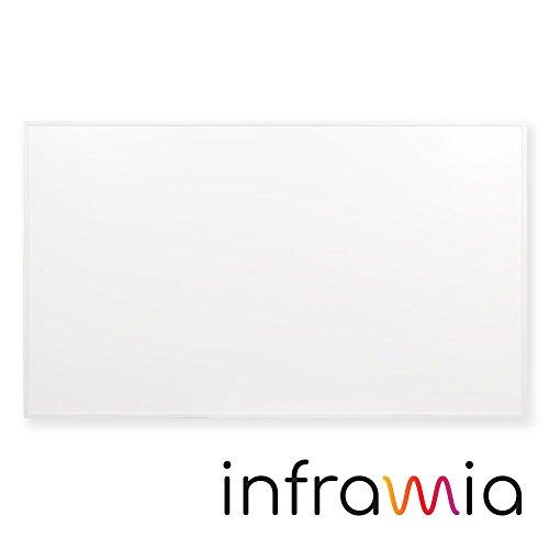 inframia i600W Infrarotheizung, dezent weiß, 3 Jahre Garantie (100,5 x 59,5 x 2 cm, Kabellänge 2 m) (600 Watt)
