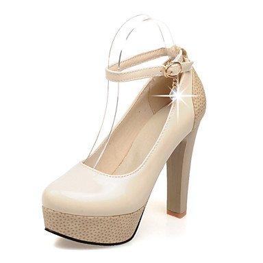 Zormey Frauen Schuhe Pu-Ferse Fersen/Round Toe Heels Outdoor/B¨¹ro & Amp Karriere / Kleid Schwarz/Rosa/Mandel US8 / EU39 / UK6 / CN39