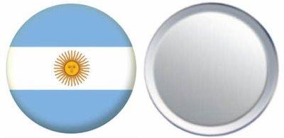 Miroir insigne de bouton Argentine drapeau - 58mm