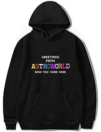 Mchooded Felpa con Cappuccio Classica Travis Scott Astroworld Felpa  Cappotto Musicale Tuta Elegante per Ragazze E Ragazzi T-Shirt… 0132302754c6