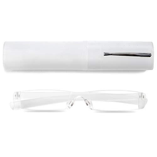 VEVESMUNDO® Randlos Lesebrille Damen Herren Lesehilfe Sehhilfe Augenoptik Mode Leicht Mit Etui Transparent Grau Blau Rosa Braun 1.0 1.5 2.0 2.5 3.0 3.5 4.0