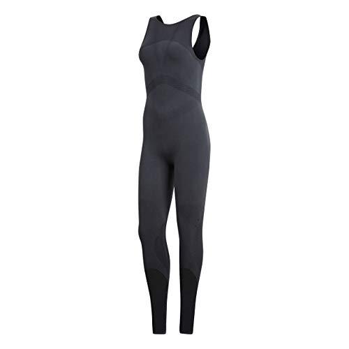 Adidas CD3071 Salopette Femme, Carbon/Noir, FR : M (Taille Fabricant : M)