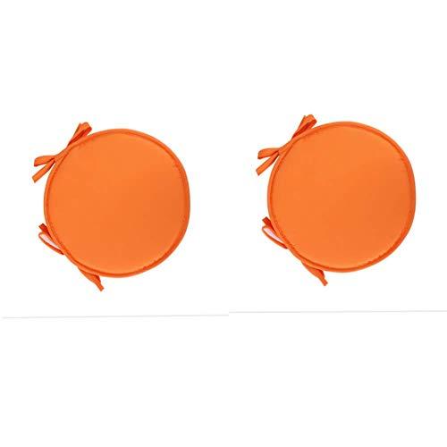 DADA Stuhl-Sitzkissen, rund, zum Anbinden, für Esszimmer, 2 Stück (38 cm) Orange