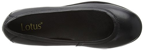 Lotus Beech, Scarpe Col Tacco Donna Nero (Black (Blk Leather))