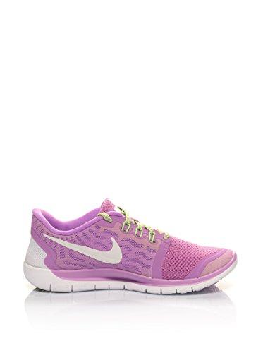 Nike - Free 5.0 (Gs), - Unisex - Adulto Lilla/Bianco