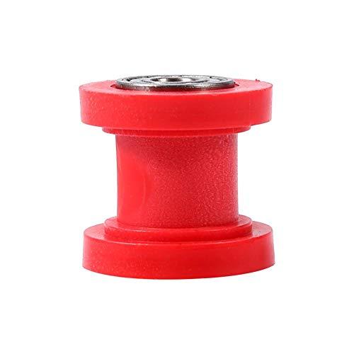 Keenso 8 mm Riemenspanner Kettenrolle Slider für Motorrad Mini Bike (Rot)