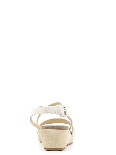 Sandales, couleur Rouge , marque GEOX, modèle Sandales GEOX D ABBIE Rouge white