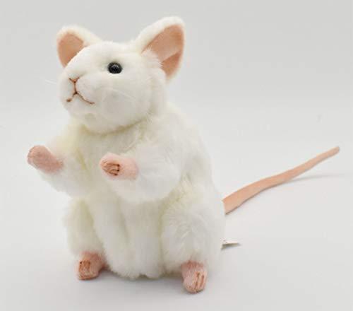 Hansa–Plüsch Maus weiß 15CMH