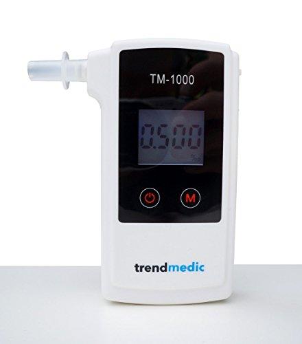 Alkoholtester Trendmedic TM-1000 – Digitaler Atemalkohol-Tester mit elektrochemischen Sensor – polizeigenau – Anzeige in Promille - 5