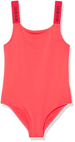 Calvin Klein Mädchen Swimsuit Badeanzug, Rosa (Diva Pink 059), 152 (Herstellergröße: 12-14)
