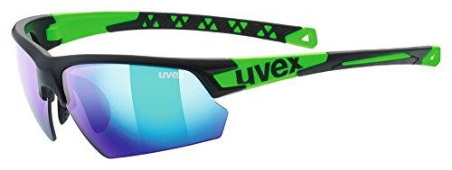 Uvex Erwachsene sportstyle 224 Sportbrille, black mat green, One Size