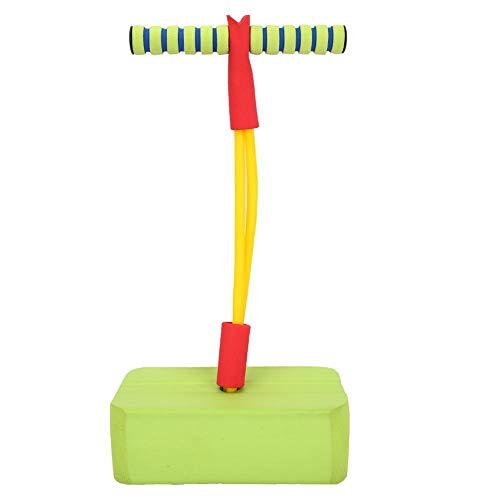 SolUptanisu Pogo Stick,Juguete para Saltar Niños Palo Saltador Pogo Saltarines Caucho Equipo de Puente Divertido y Juego Saltos Seguros Juguetes Deportivos para Niños Infantiles al Aire Libre,Verde
