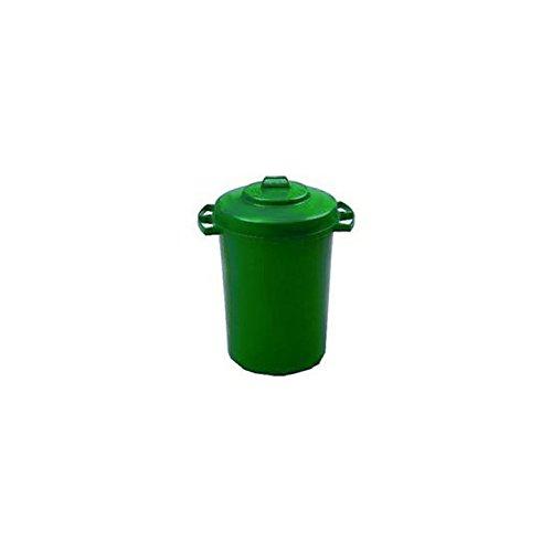 AUK CL025-G Mülleimer mit Deckel, 110 l Fassungsvermögen, grün