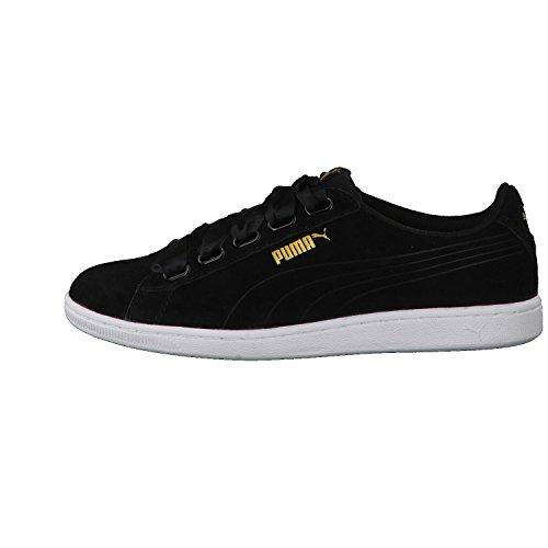 Puma Damen Vikky Ribbon Sneaker Schwarz (Black-Black)