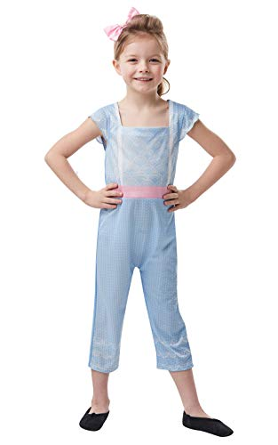 Kostüm Bo Zubehör Peep - Rubie's Offizielles Disney Toy Story 4, Bo Peep Mädchen-Kostüm, Kindergröße 9-10 Jahre