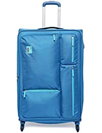 VIP Polyester 82 cms Blue Softsided Check-in Luggage (STAX)