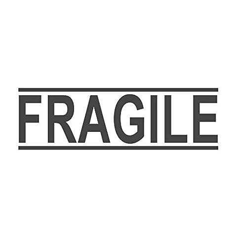Fragile mit Parallel Linien, Wortstempel