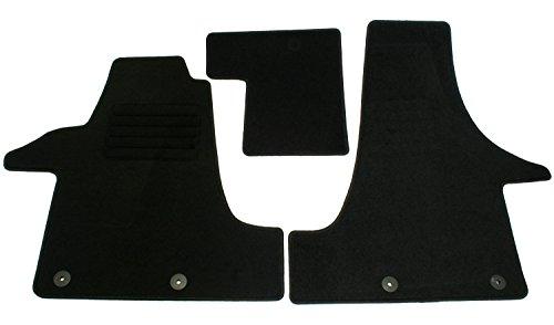 Preisvergleich Produktbild Velours Passform Fußmatten Set, Schwarz