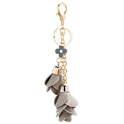 Ularma Rose Keychain Schlüsselanhänger Weich Bequem Mode Legierung Fahrzeugschlüssel Handtaschenanhänger Taschenanhänger (khaki) Dk Khaki