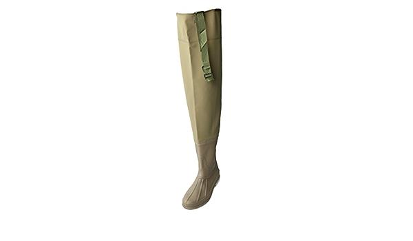 perfeclan Hip Waders Boots Bootfoot F/ür Angeln Und Jagen Strapazierf/ähiges PVC F/ür M/änner Und Frauen Oberschenkel Waders Wasserdichtes