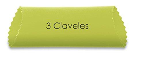 3 Claveles Pelador Ajos DE 13 cm, Silicona, Verde, 11x2.5x2 cm