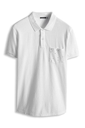 ESPRIT Collection Herren Poloshirt Piq Po Aw Pkt Weiß - Weiß