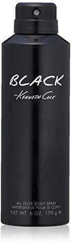 Kenneth Cole Black Body Spray For Men, 6.0 Oz
