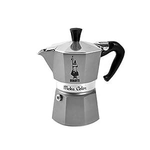 Moka Bialetti-Grey-Caffettiera-Alluminio-Moka-Color-Antracite-Tazzine-3-Prima-Colazione-Grigio