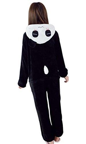 iLoveSIA Adulte Unisexe Ensemble de Pyjama motif animaux Panda noir&blanc