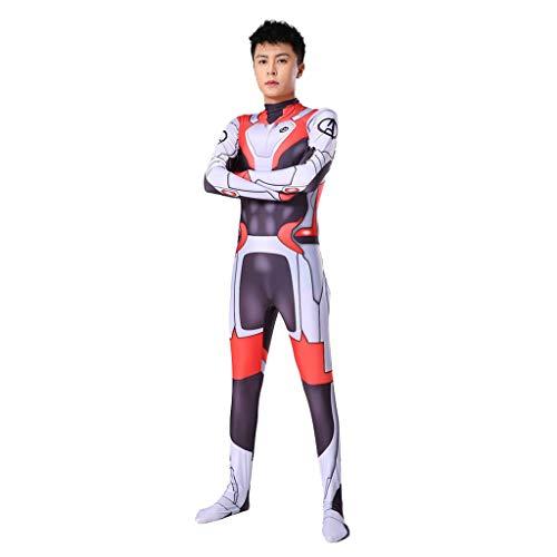 Yujingc The Avengers 4 Quantum Krieger Marvel Cosplay Strumpfhosen Mens Erwachsener Kind Abendkleid Kleidung Wunder-Held Rollenspiele Bodysuit Jumpsuits,White,XL (Kleinkind Krieger Kostüm)