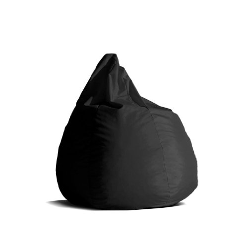 Pouf-poltrona-sacco-media-BAG-L-Jive-tessuto-tecnico-antistrappo-nero-imbottito-Avalon