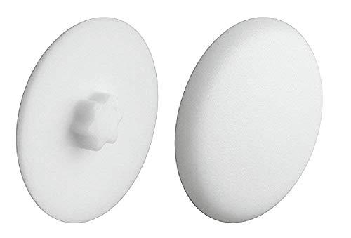 Gedotec Verschluss-Stopfen weiß Schrauben-Abdeckungen zum Eindrücken Schrauben-Kappen Kunststoff | H1121 | Ø 12 mm | IS20 | 20 Stück