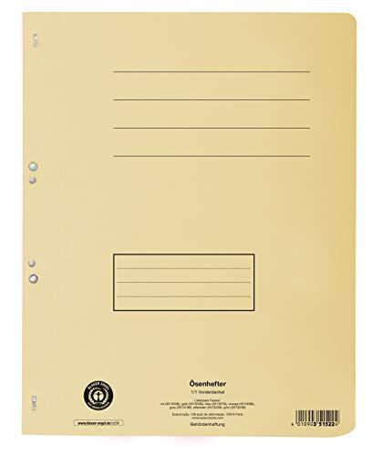 Exacompta 351522B Ösenhefter (Recycling-Karton, voller Vorderdeckel, Beschriftungsfeld, DIN A4) 1 Stück elfenbein (Fotoalbum Elfenbein)