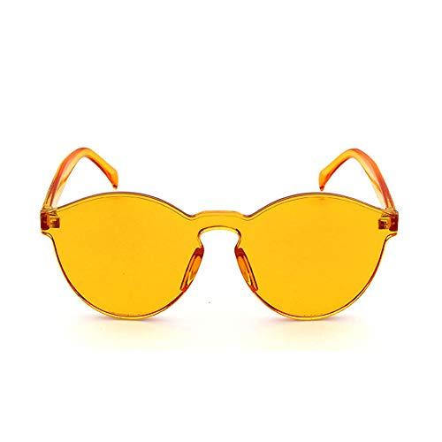 xinzhi Transparente Sonnenbrille, Katzenaugen Transparente Brille Retro Sonnenbrille Candy Color Goggles - Gelb